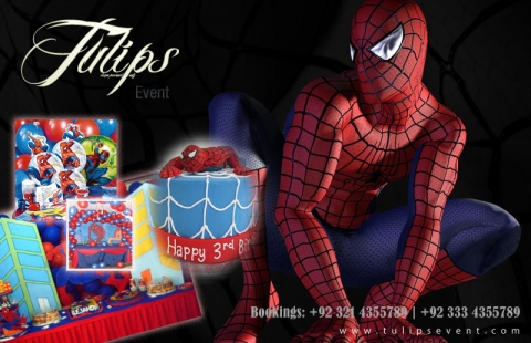 Spiderman Birthday Party Theme Ideas decoration planner in pakistan & spiderman themed birthday ideas Planner in Pakistan.