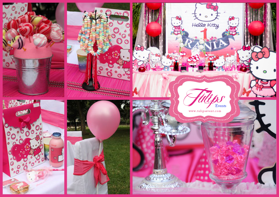 hello kitty party decoration in Lahore Pakistan Tulips event