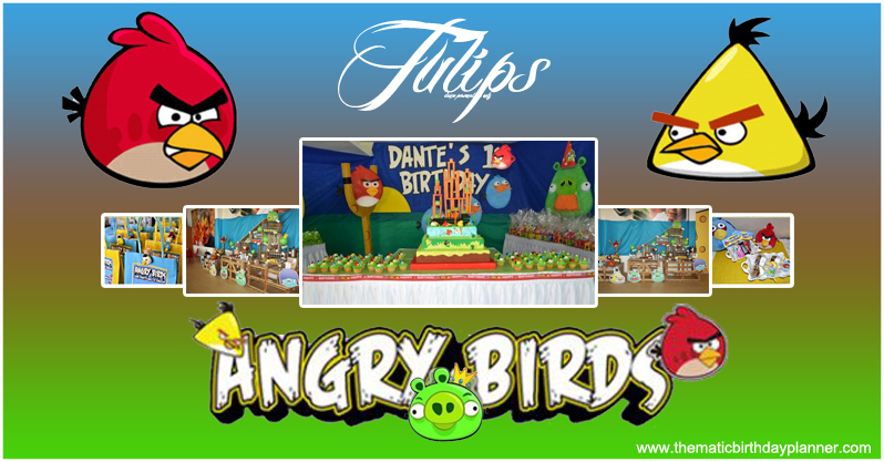 Angry Bird birthday theme planner pakistan