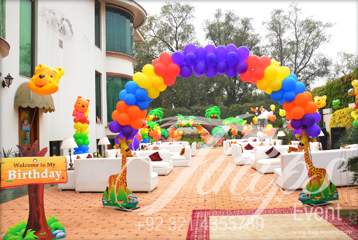 Zoo Birthday Party Decor Image Inspiration of Cake and Birthday