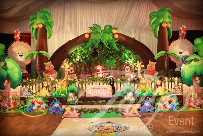 Jungle Birthday Party Theme Ideas Tulips Event 15