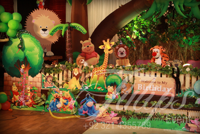 Disney Jungle Themed Birthday Party Planner in Lahore Pakistan
