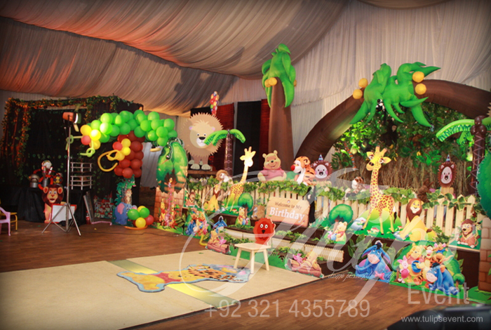 Disney jungle party ideas and decoration planner in pakistan for Amusement park decoration games