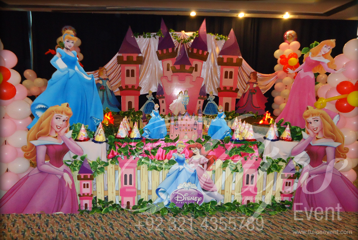 Plan Disney Princess Cinderella Theme Party Decoration Ideas Pakistan