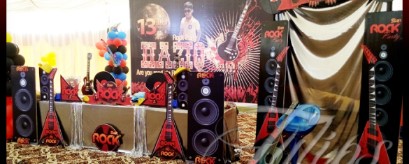 Rock Star Themed Birthday Party Planner in Pakistan 01