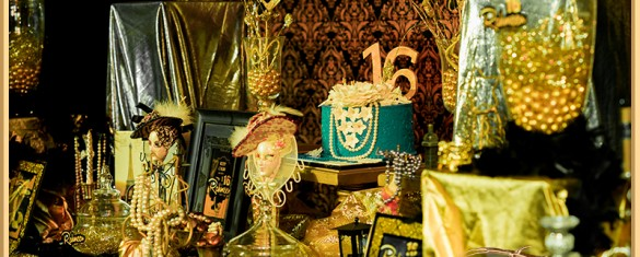 Gold Royal Blue Sweet 16 Themed party ideas in Pakistan 09