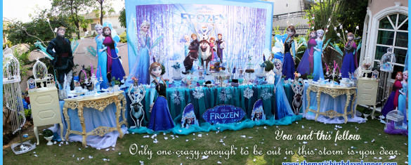 Frozen girls birthday party theme decoration ideas Pakistan