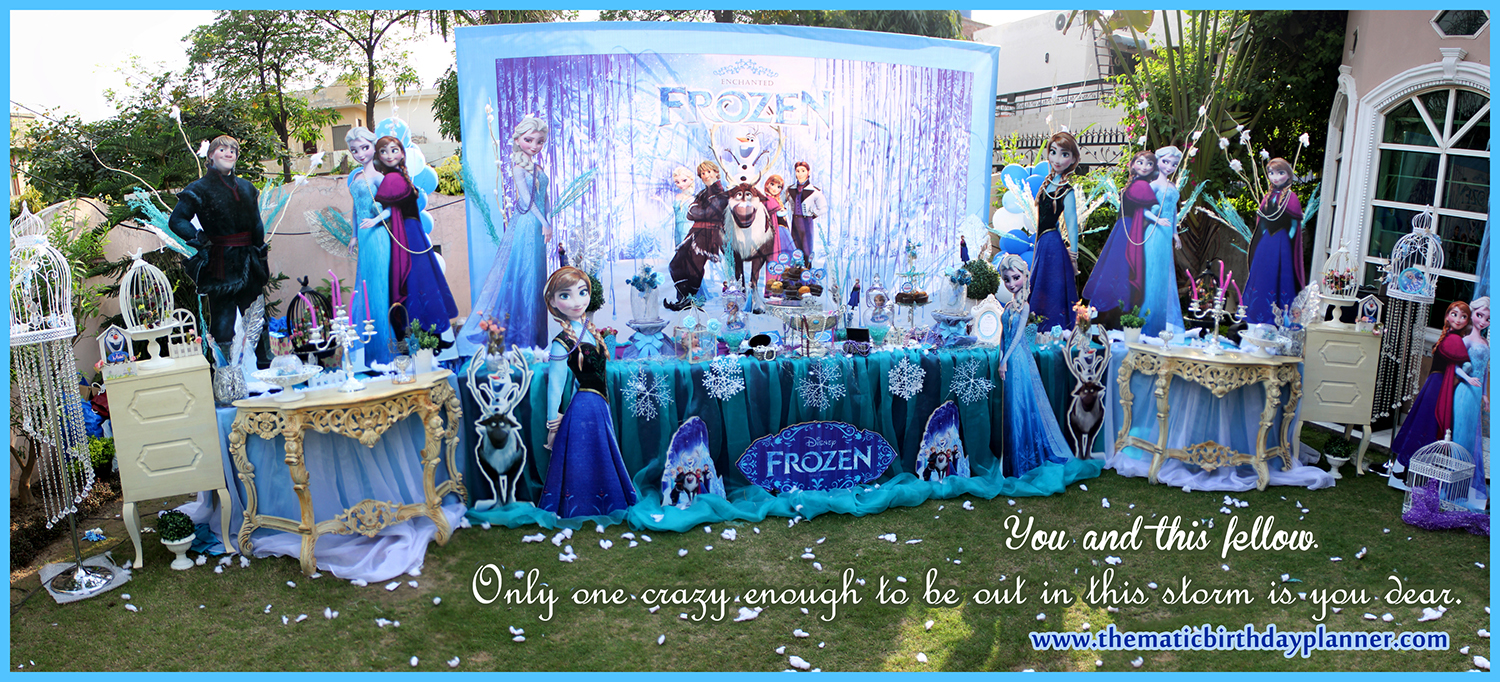 Frozen girls birthday party theme decoration ideas pakistan for B day party decoration