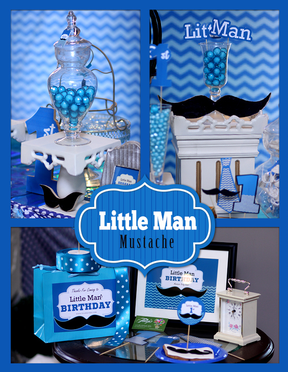 Little Man Mustache Birthday Party Theme Ideas In Pakistan