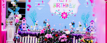 Garden theme birthday party decoration ideas in Pakistan (27)