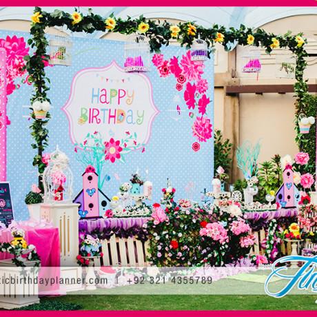 Garden theme birthday party