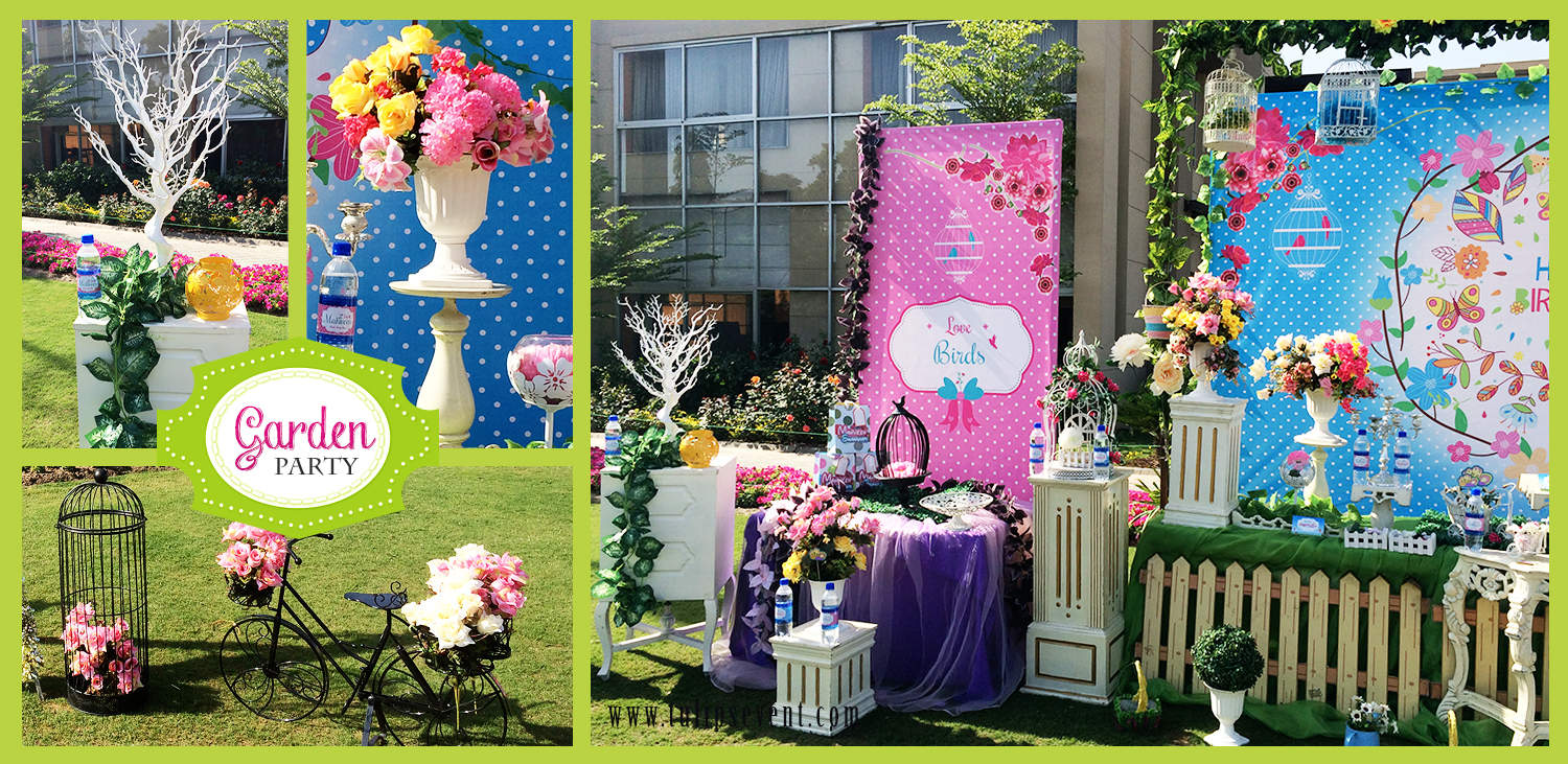 Kids garden party theme ideas in pakistan for Fun garden decoration ideas