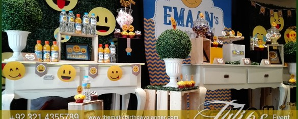 Emoji Birthday Party Theme decoration ideas in Pakistan 03