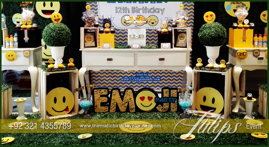 Plan Emoji Birthday Theme Emoticon party ideas in Pakistan