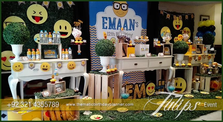 Emoji Birthday Party Theme Decoration Ideas In Pakistan