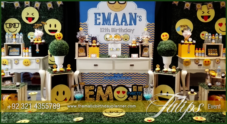 Emoji Birthday Party Theme Decoration Ideas In Pakistan 19