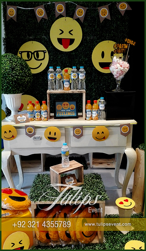 Emoji Birthday Party Theme Decoration Ideas In Pakistan 56