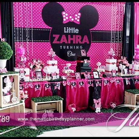 Best themed birthday party decoration photo gallery pakistan for Baby minnie mouse decoration ideas