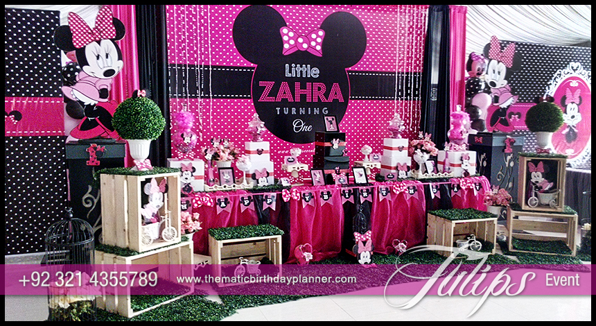 Minnie mouse party theme decoration ideas in pakistan for Baby minnie mouse party decoration