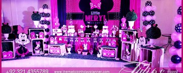 Minnie Mouse Vintage birthday party theme ideas in Pakistan 29