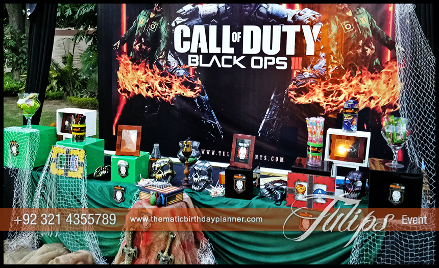 Best thematic birthday planner in lahore pakistan for Black ops 3 decorations