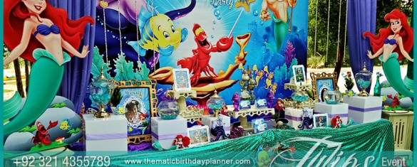 Little mermaid party theme decoration ideas in pakistan for Amusement park decoration games