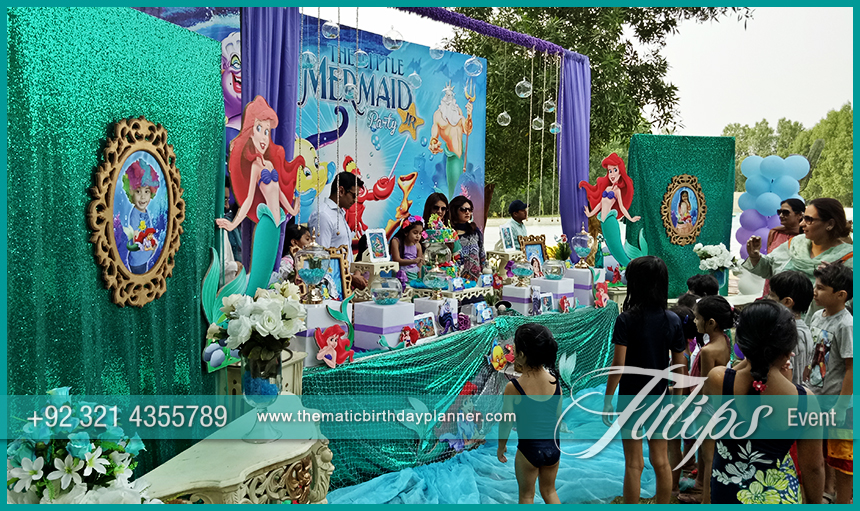 Little mermaid party theme decoration ideas in pakistan for Ariel birthday party decoration ideas