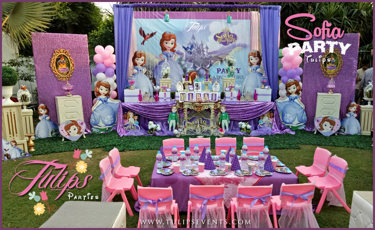 Sofia The First Birthday Party Decoration Ideas In