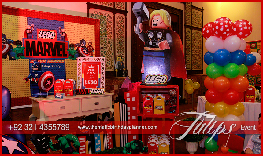 Lego Marvel's Avengers Party theme ideas in Pakistan