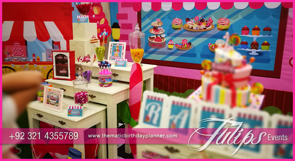Candy shoppe birthday party ideas tulips events in Pakistan 39