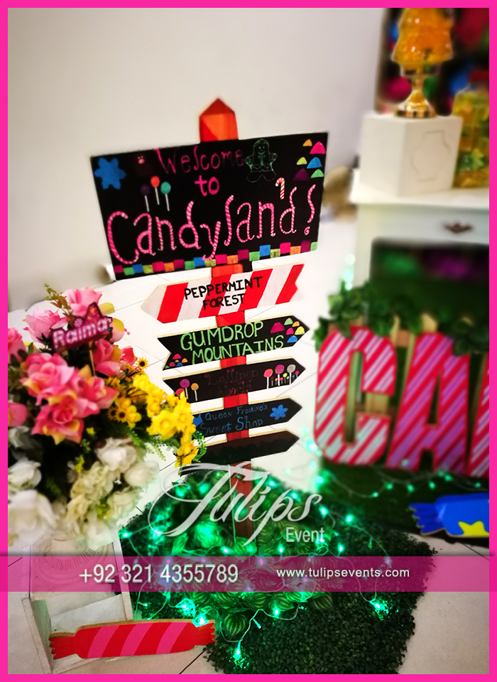 Candy shoppe birthday party ideas tulips events in Pakistan 51