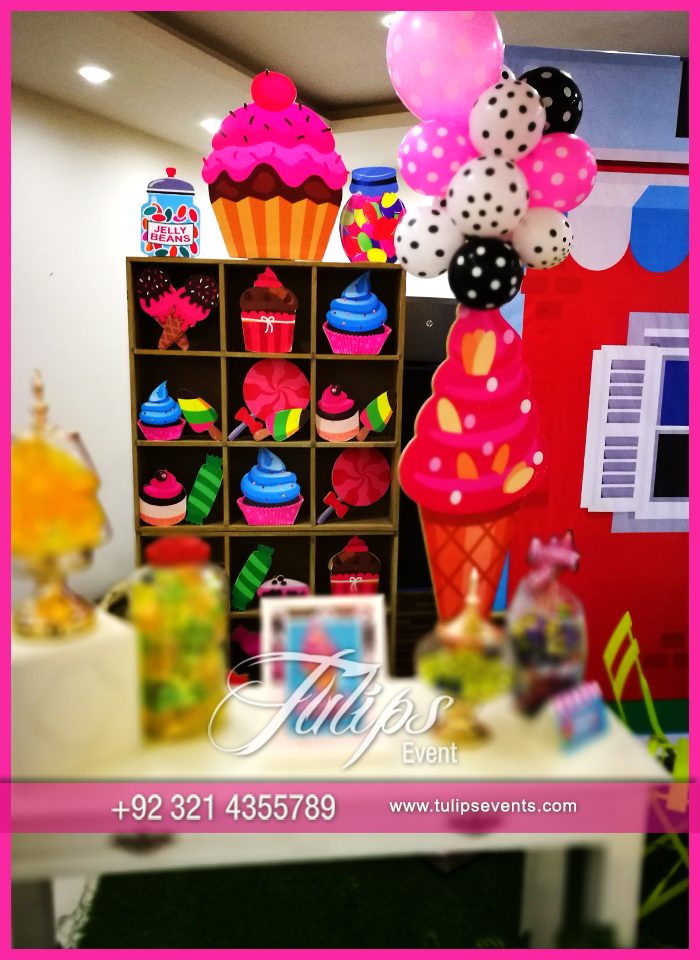 Candy shoppe birthday party ideas tulips events in Pakistan 54