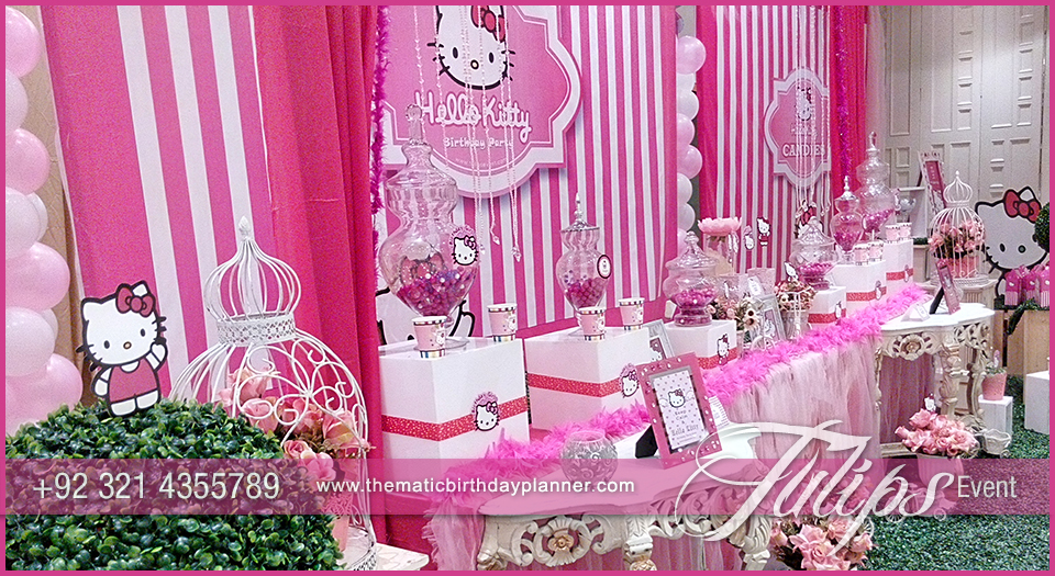 Hello Kitty Birthday Party Decorations ideas tulips events in Pakistan 10