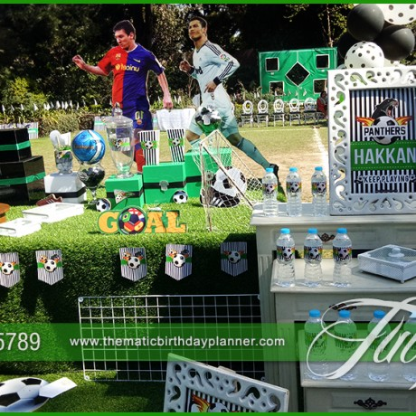 Outdoor Soccer Theme Party