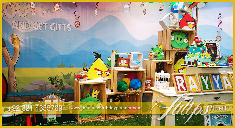 Angry birds party theme decoration ideas in pakistan for Angry bird birthday decoration ideas