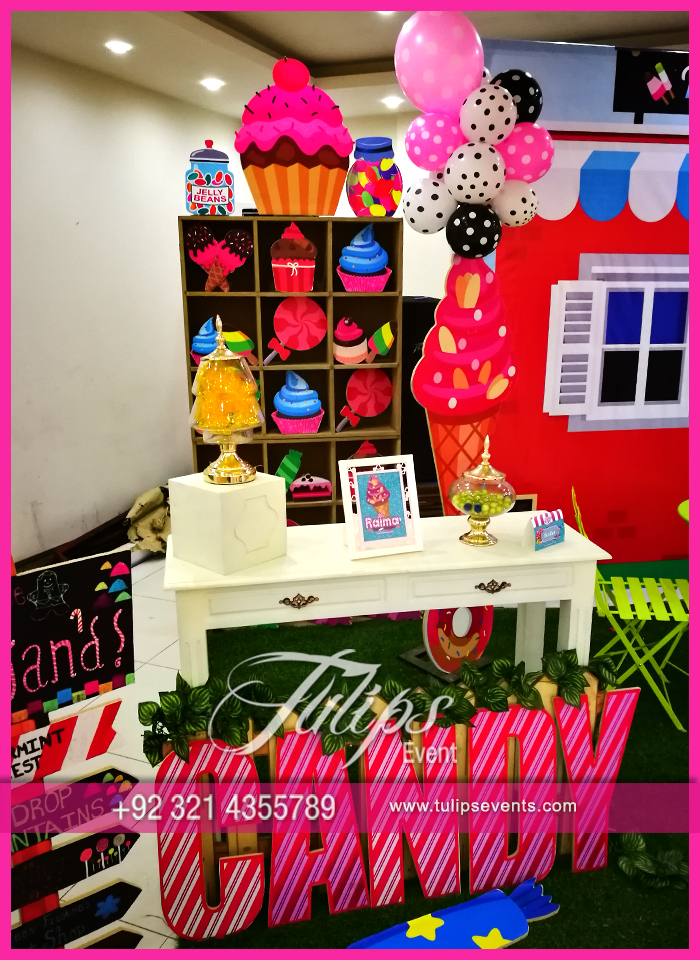 Candy shoppe birthday party ideas tulips events in Pakistan 68