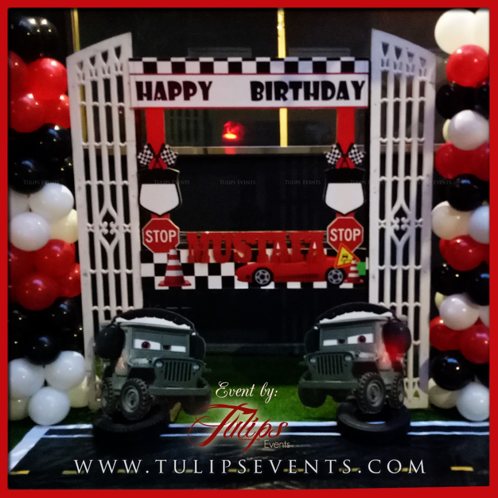 Disney Cars Theme Party Decor Tulips Events in Pakistan (2)