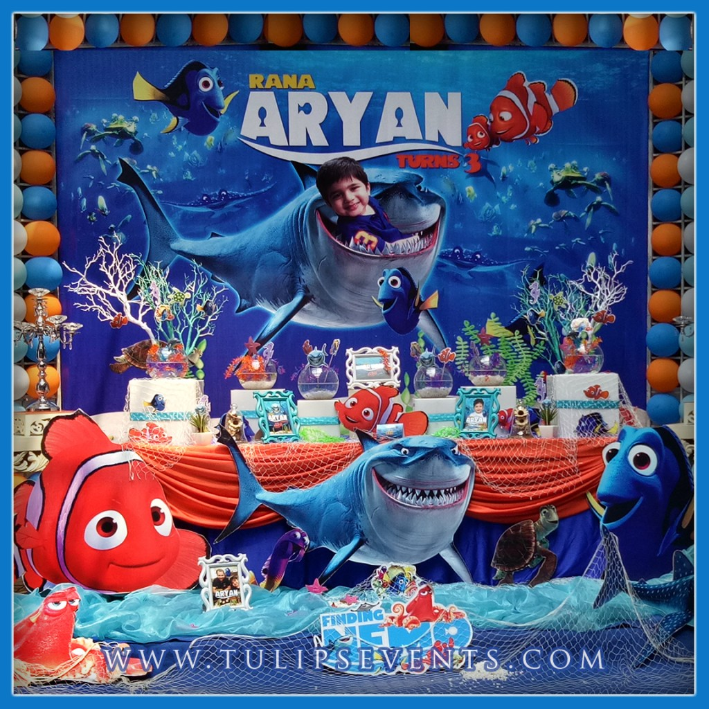 Nemo Themed Party Decoration ideas Tulips Events in Pakistan (3)