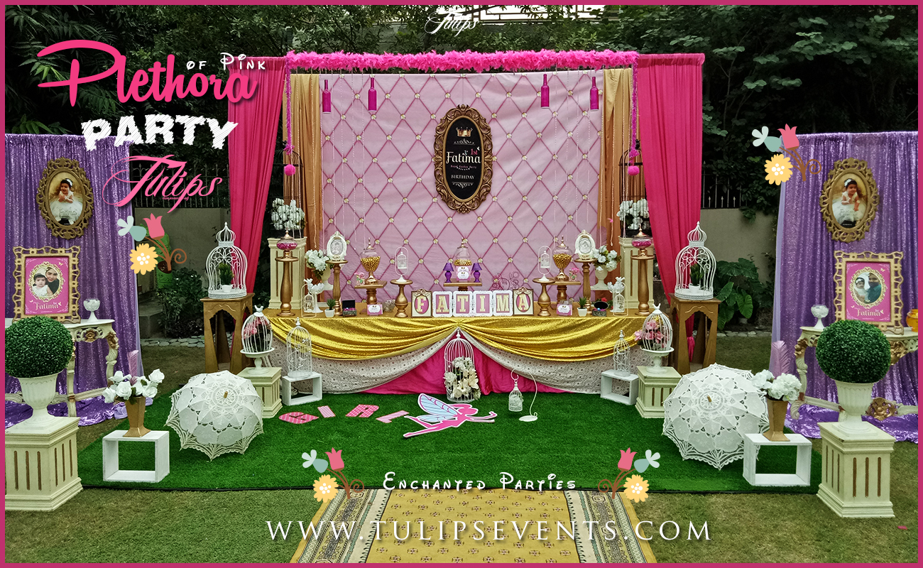Pink fairy theme party planner in Lahore Pakistan 02
