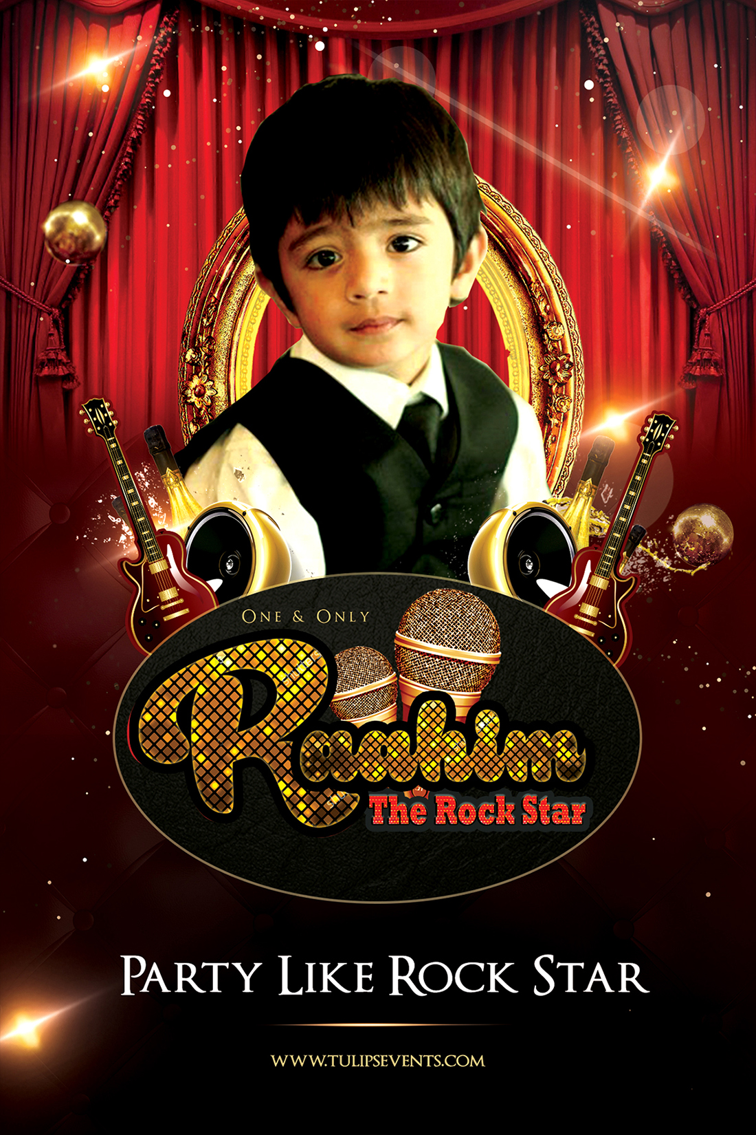 Raahim The Rock Star Birthday Party Poster in Pakistan