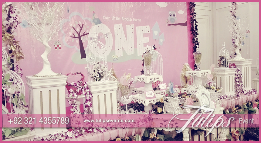 cute little birdie first party theme ideas in Pakistan 01