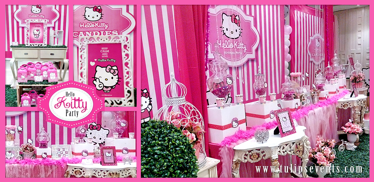 hello kitty party decoration by tulips events in Pakistan