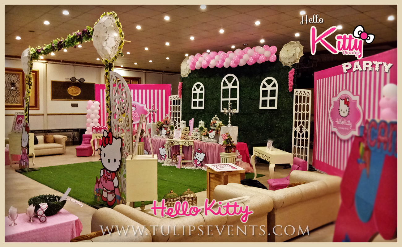 hello kitty themed party backdrop decor ideas in Pakistan 06