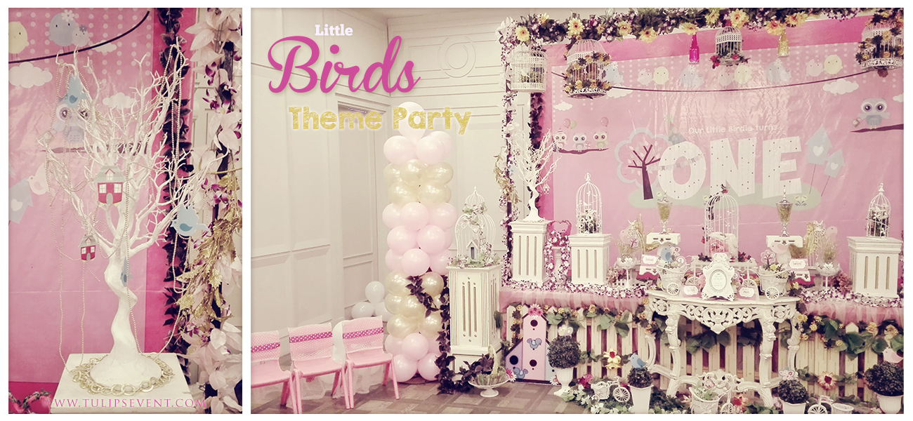 little cute birdie birthday party theme in Pakistan