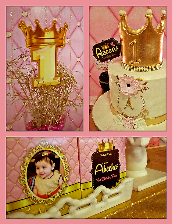 pink gold birthday party theme decoration ideas in Pakistan - Copy
