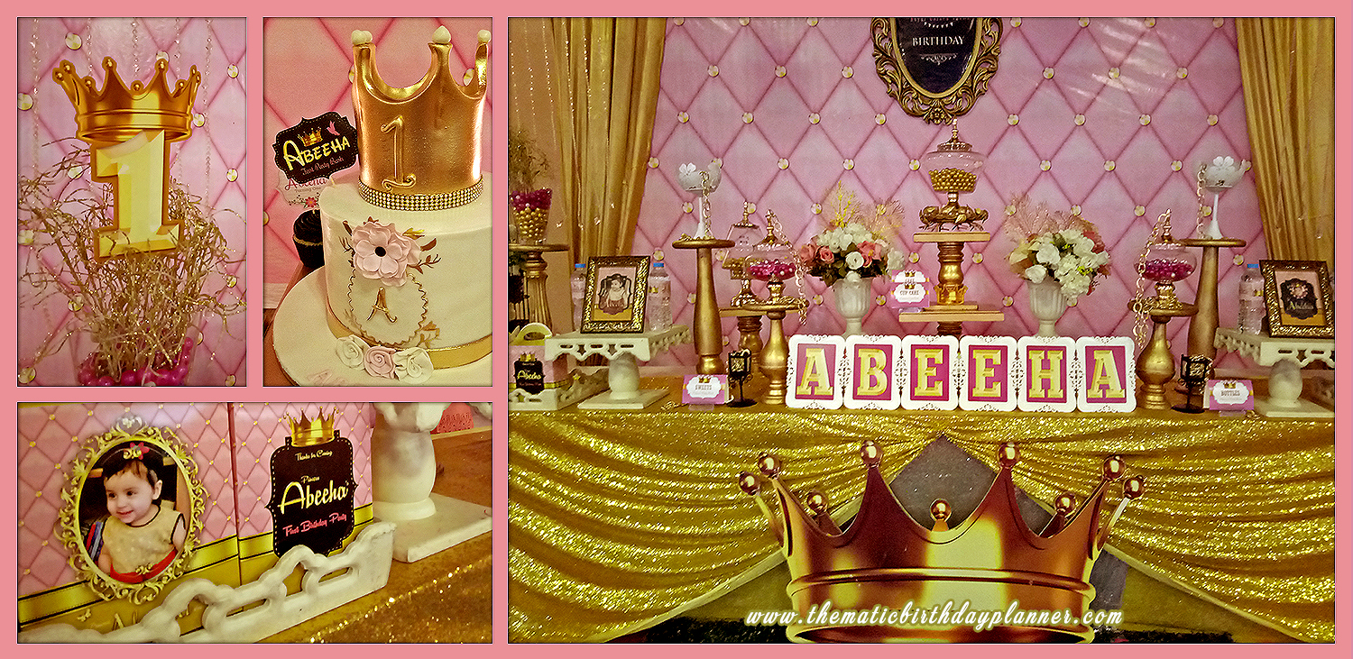 pink gold birthday party theme decoration ideas in Pakistan