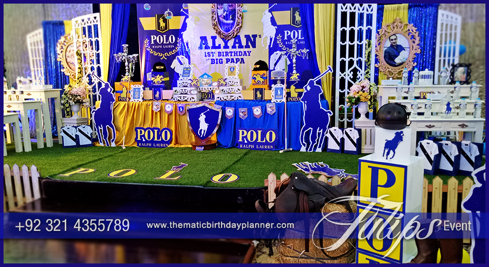 polo ralph lauren theme party decoration ideas in Pakistan (23)