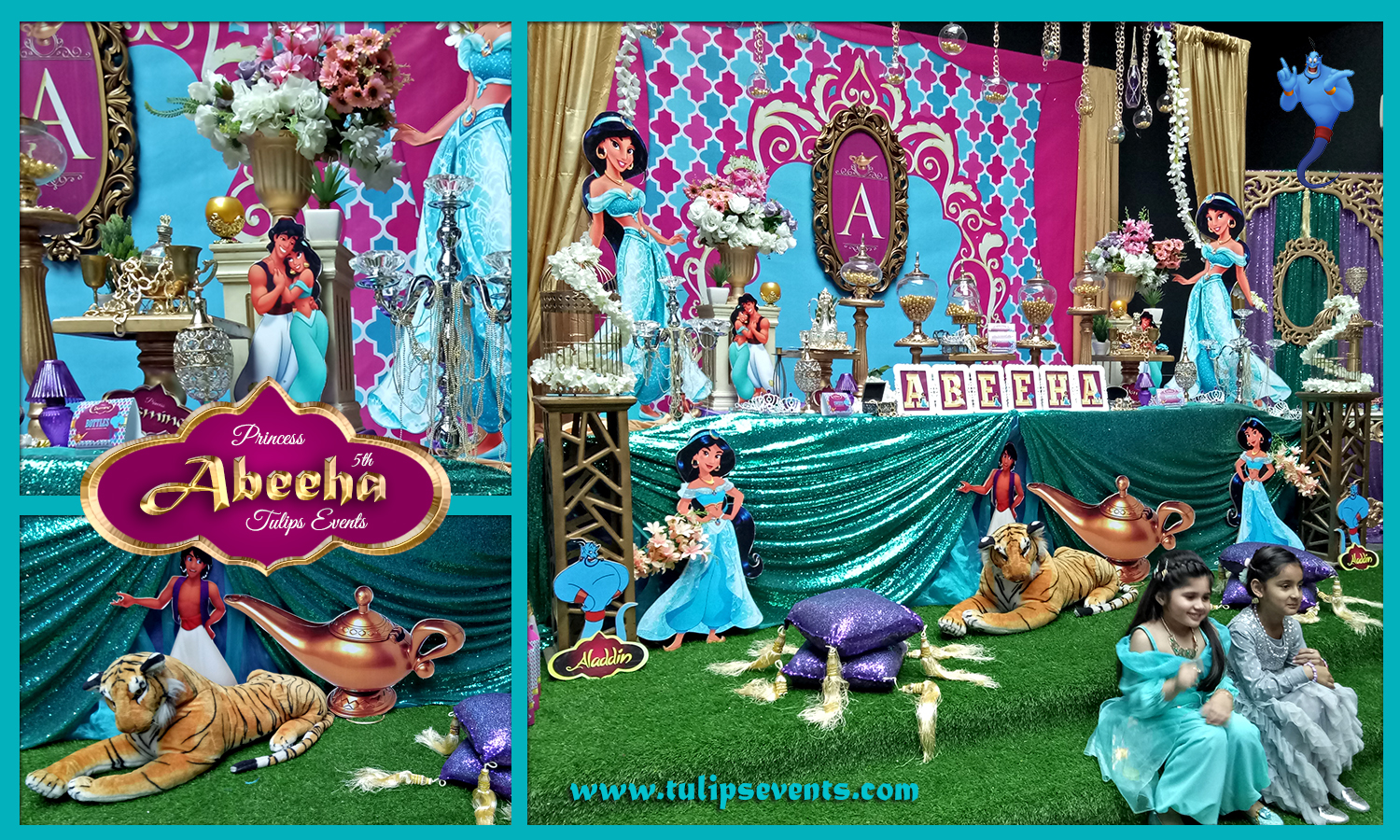 Princess Jasmine Birthday Party Theme Decoration Ideas In Pakistan