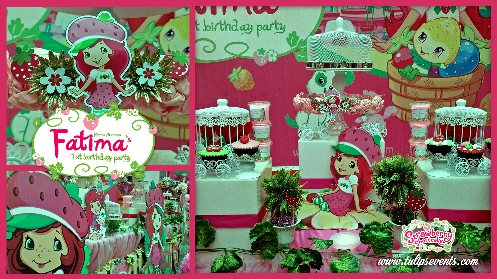strawberry shortcake themed birthday party decor ideas in Pakistan 2