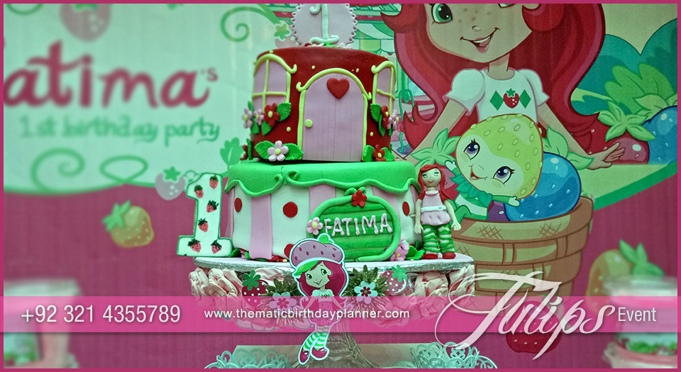 strawberry shortcake themed birthday party decor in Pakistan 04
